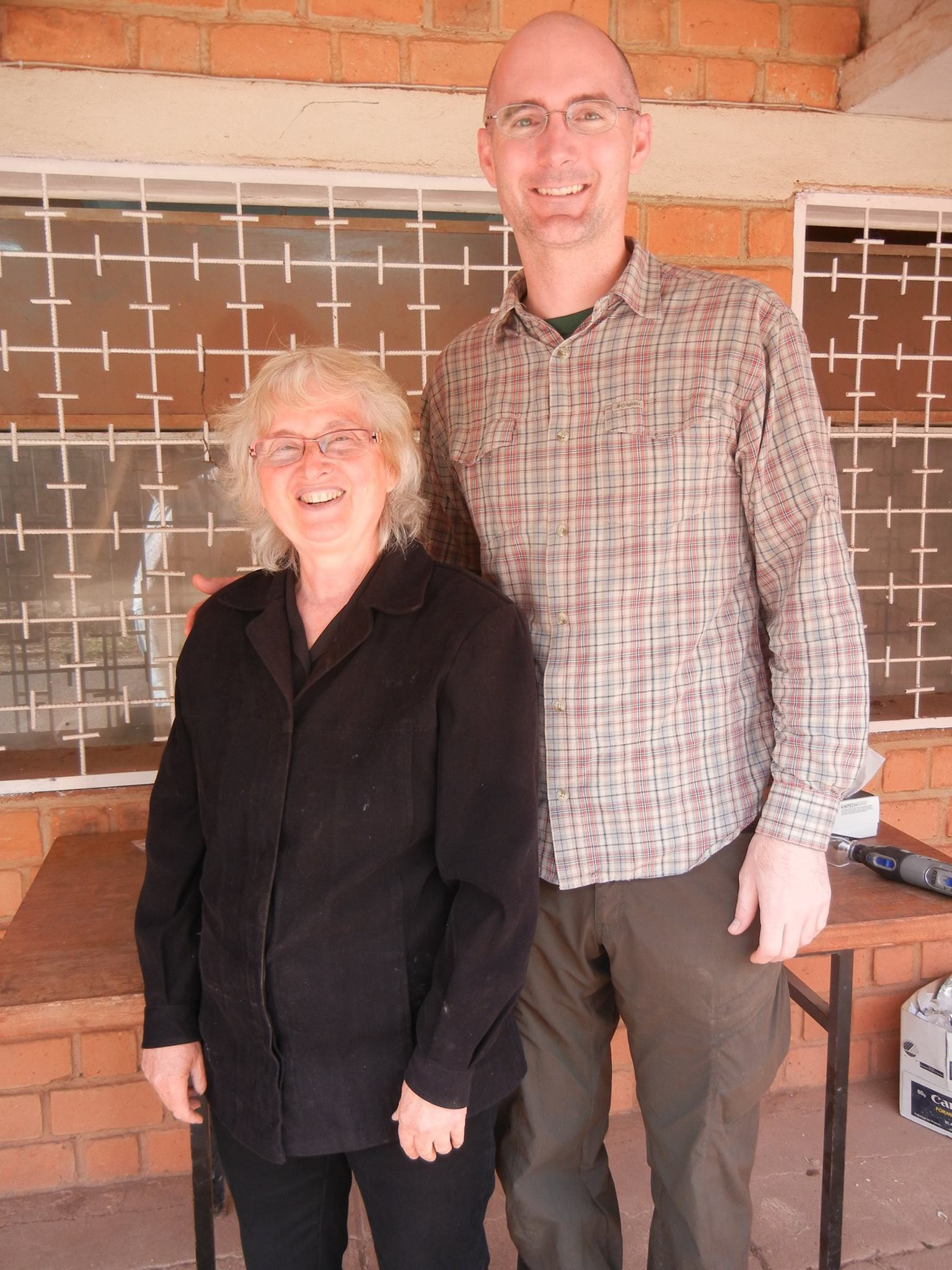 Dr. Perry with our lab's collaborator Dr. Laurie Godfrey (UMass Amherst) at the University of Antananarivo, Madagascar