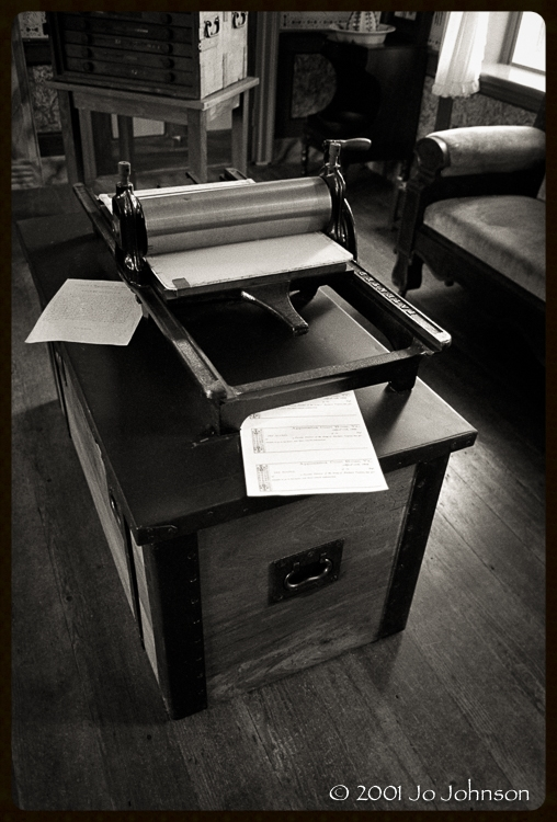 Printing press used for printing out furloughs for confederate troops (2001)