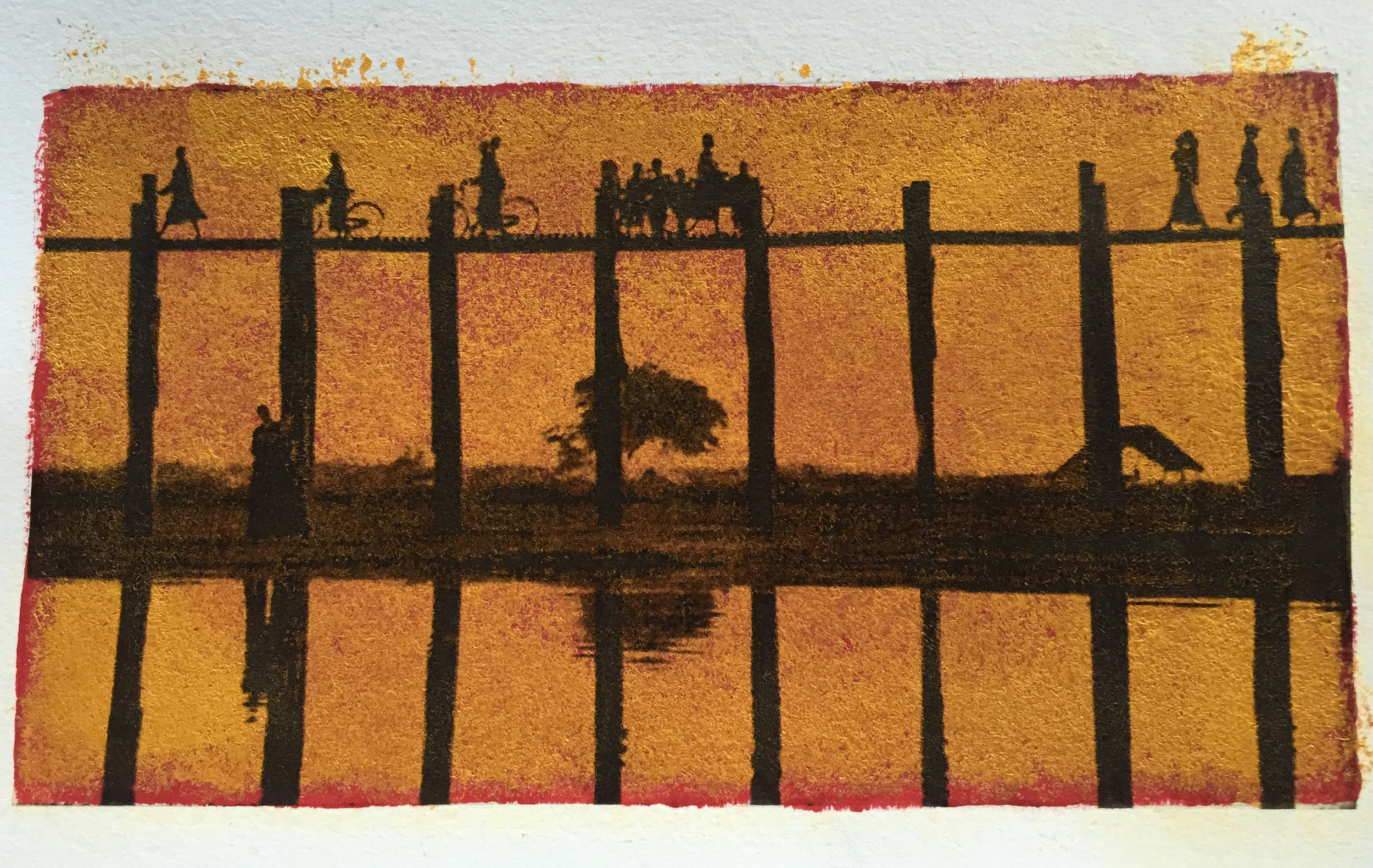 U-Bein Bridge Altered  (Photo Credit: Felice Willat)