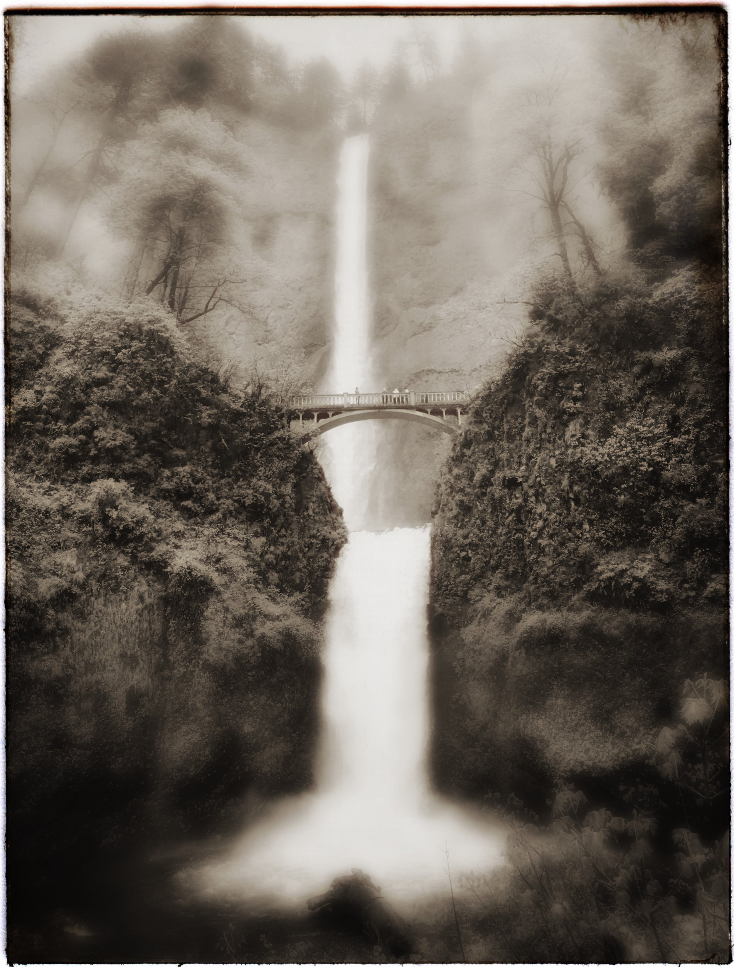 """iPhone Fun"" - Columbia River Gorge (I don't remember which waterfall this is. . .sorry.)"
