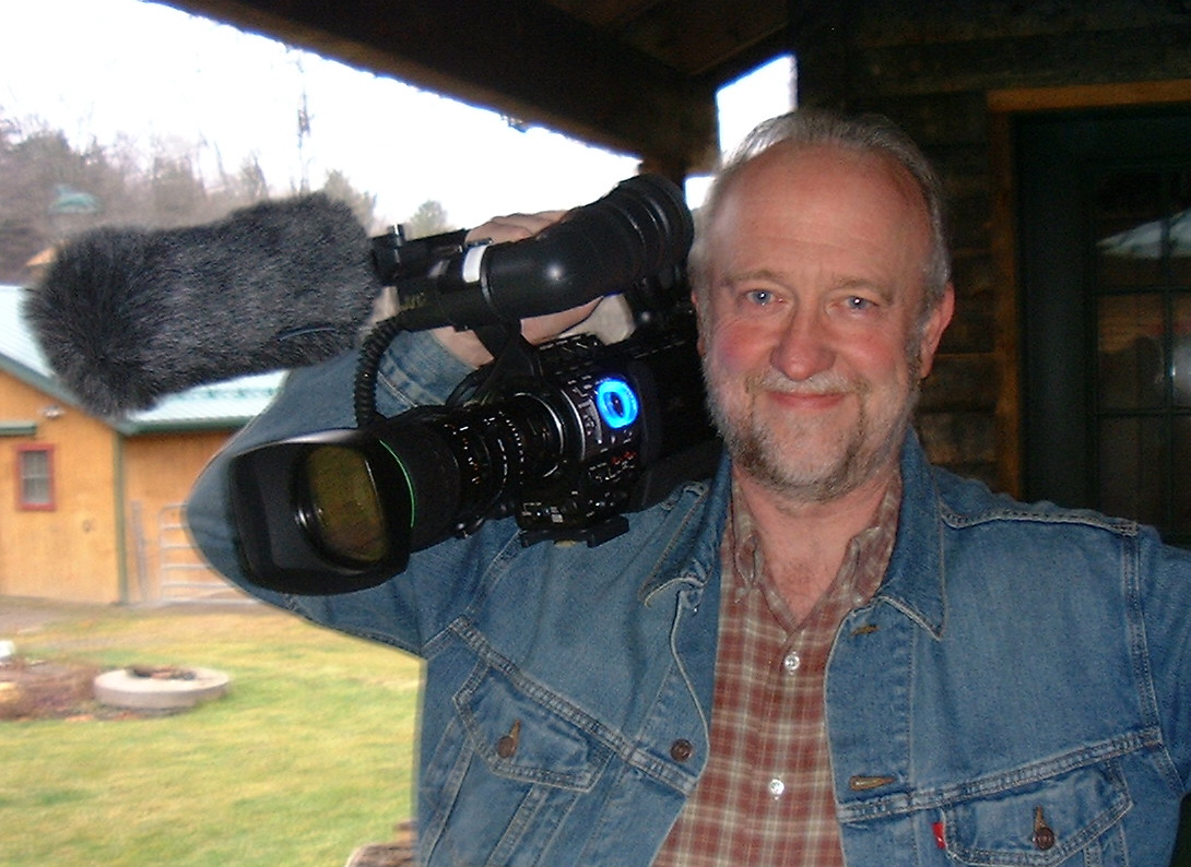 Bill gets ready to film