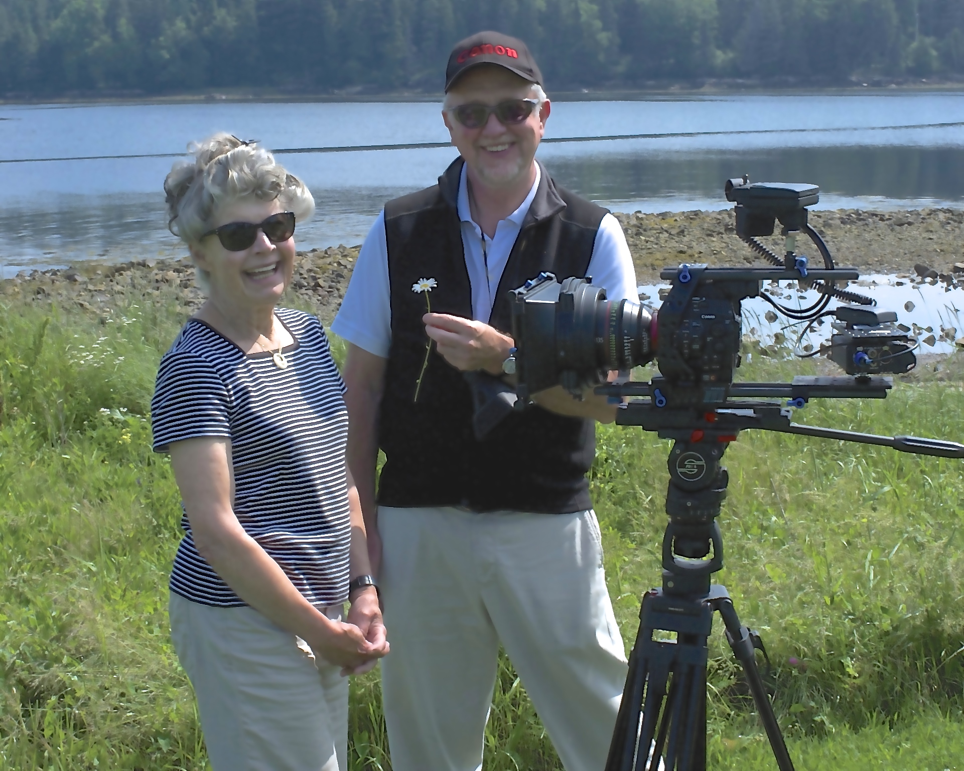 Sabra and Bill on location in Maine