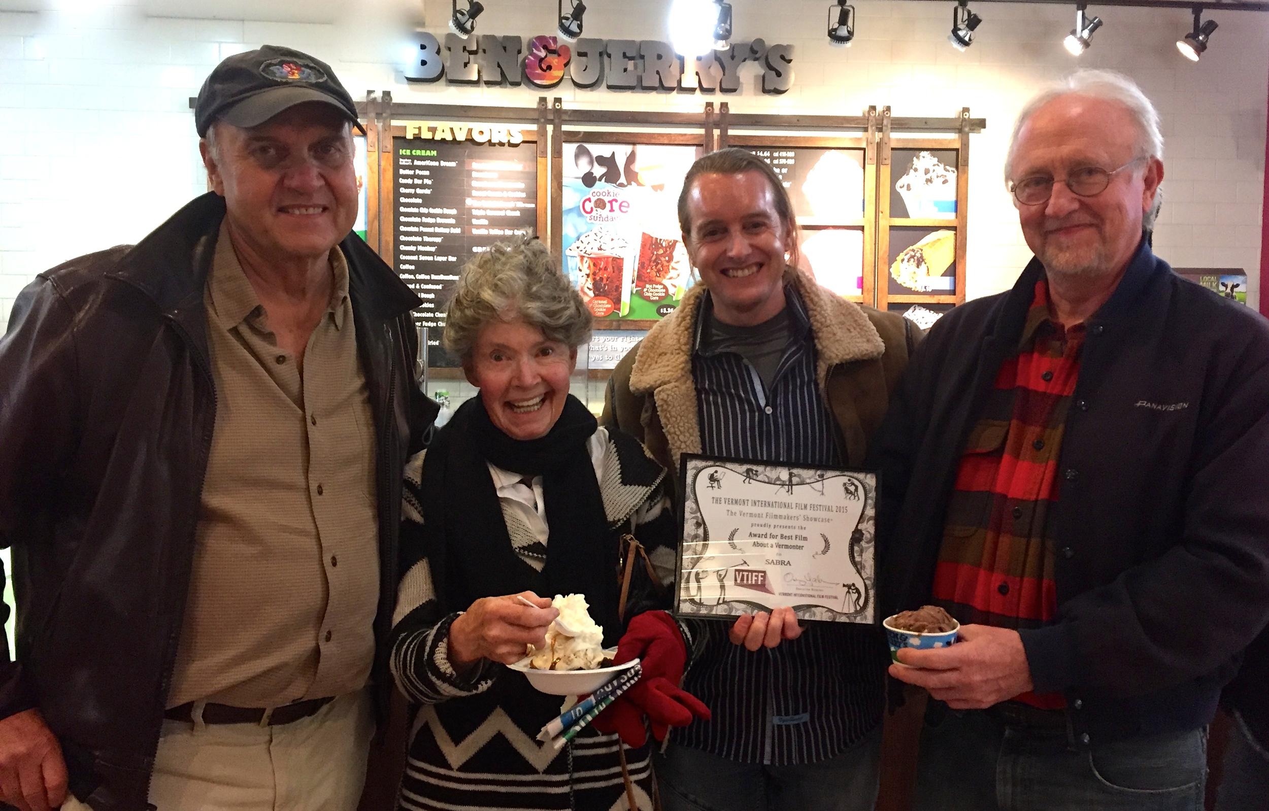 At Ben & Jerry's after VTIFF in Burlington VT