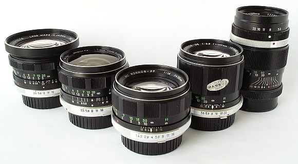 Minolta lens line from the 1960's