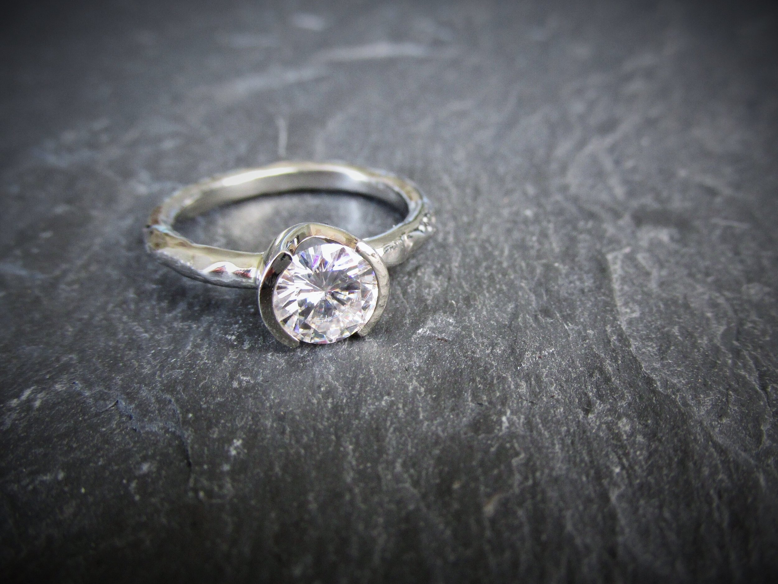 Rugged Solitaire Engagement Ring. Starting at $1349