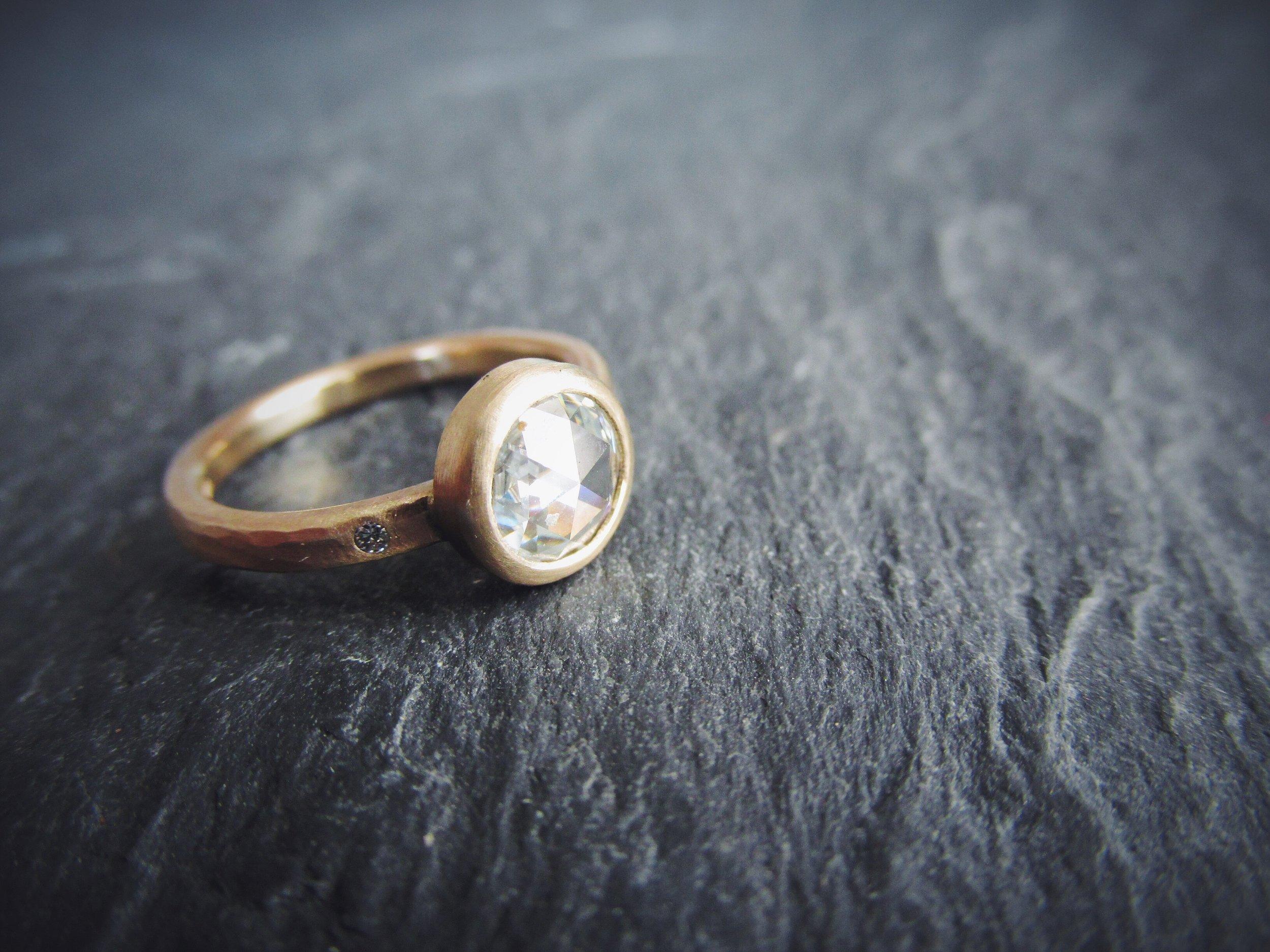 Rose Cut Moissanite Engagement Ring. Starting at $949