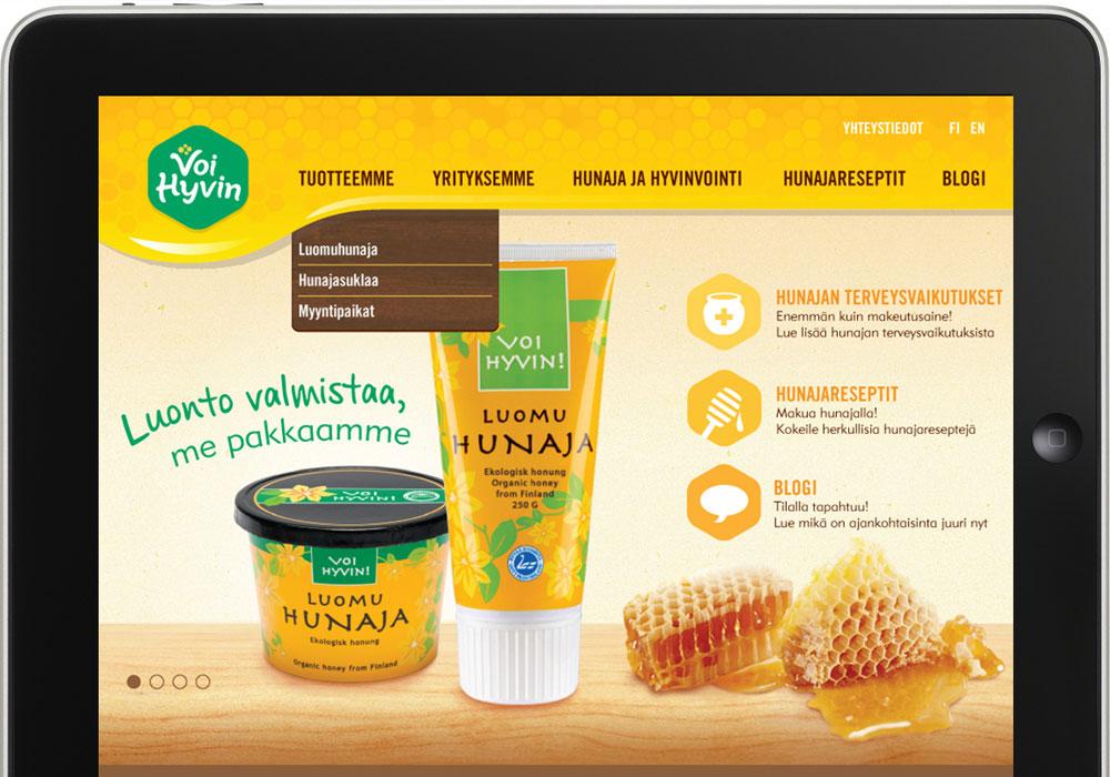 Visual Identity, Website Design Voi Hyvin