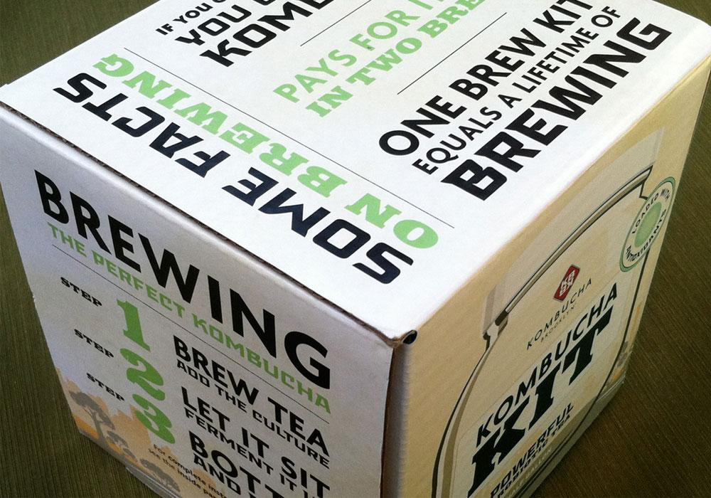 Packaging Design  KBBK Kombucha Brew Kit
