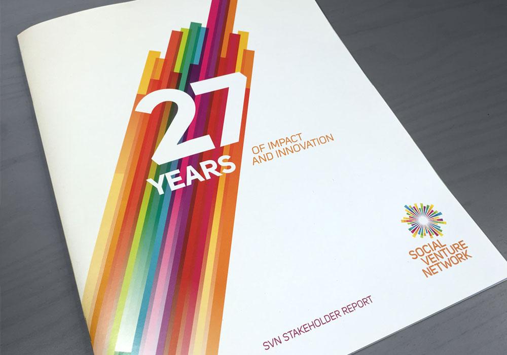 Annual Report Design Social Venture Network
