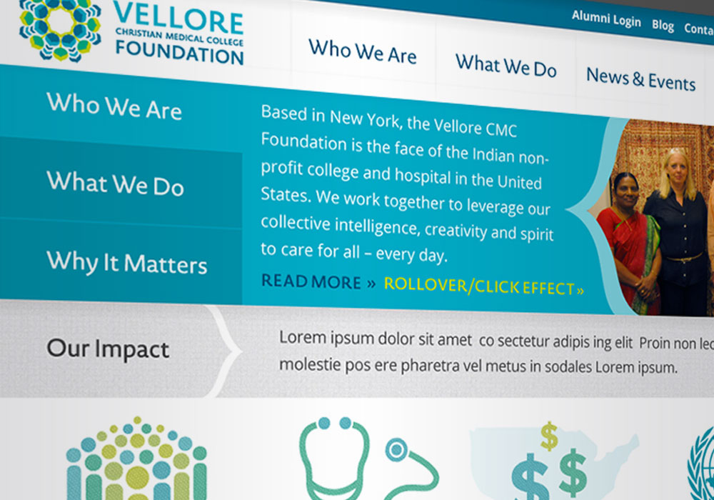 Website Design Vellore Christian Medical College Foundation