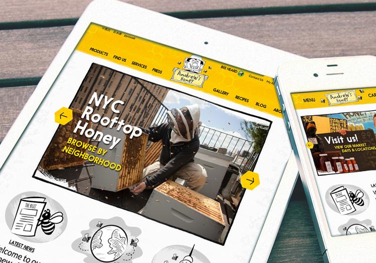 Website Design Andrew's Honey