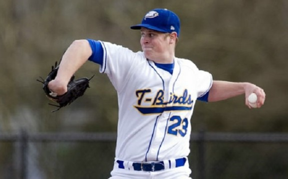 LHP Conor Lillis-White (Toronto, Ont.) was a Big Man On Campus pitching the University British Columbia Thunderbirds to a 2-1 win over Concordia