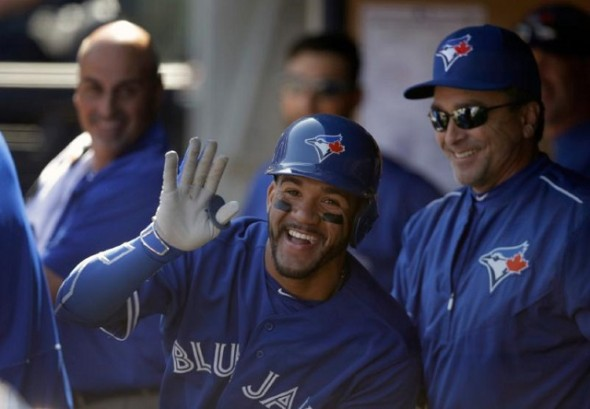2B Devon Travis broke in with a solo home run and two walks in Monday's 6-1 opening day win over the New York Yankees at Yankee Stadium. He rushed into the dugout and was given the silent treatment by his teammates