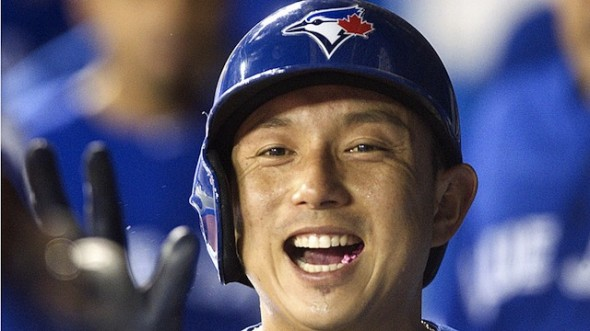 INF Munenori Kawasaki, one of the Blue Jays' most popular player during the 2013 season, is back from triple-A Buffalo after INF Maicer Izturis was injured in Baltimore on Sunday
