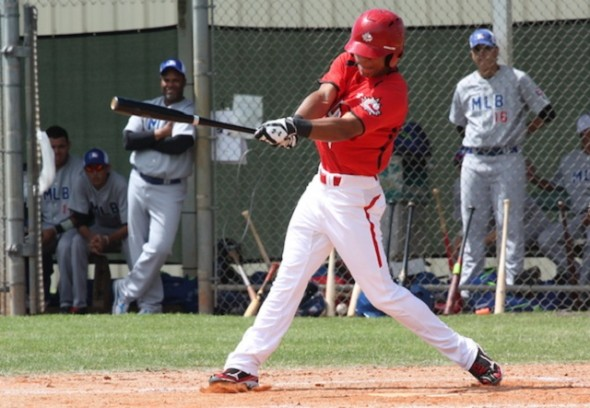 OF Miles Gordon (Oakville, Ont.) had five hits as the Canadian Junior National Team played an intra-squad game on Sunday at ESPN's Wide World of Sports.