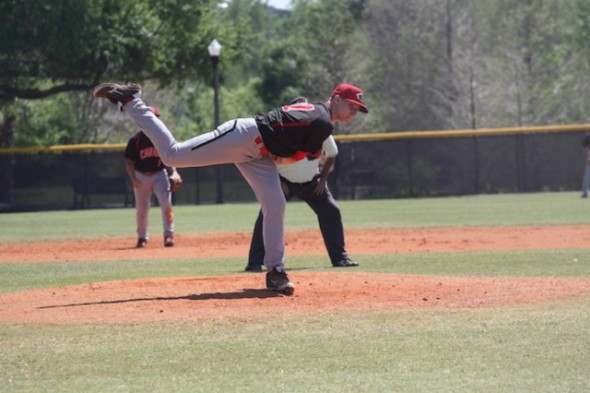 RHPWill McAffer (Vancouver, BC) tossed three scoreless innings as the Canadian Junior National Team fell 5-2 to the Washington Nationals extended spring team at Lake Buena Vista, Fla.