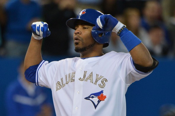 Edwin Encarnacion hit a 1-2 pitch from Joe Kelly to help the Blue Jays to a 7-1 win Saturday afternoon at the Rogers Centre.