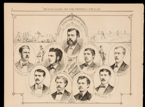 The 1873 Boston Red Stockings ventured into Kingston for an exhibition game against St. Lawrence at the Cricket Field. The Daily British Whig and The Daily News were there to document the proceedings.