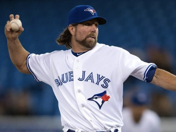 R.A. Dickey struggled with a case of flat knuckleballs as the Jays fell 8-4 to the Houston Astros.