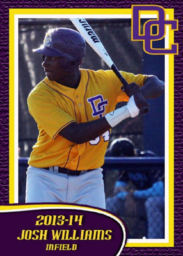 DH-1B Josh Williams (Toronto, Ont.) helped the Dodge City Conquistadors to the NJCAA World Series at Grand Junction, Col.