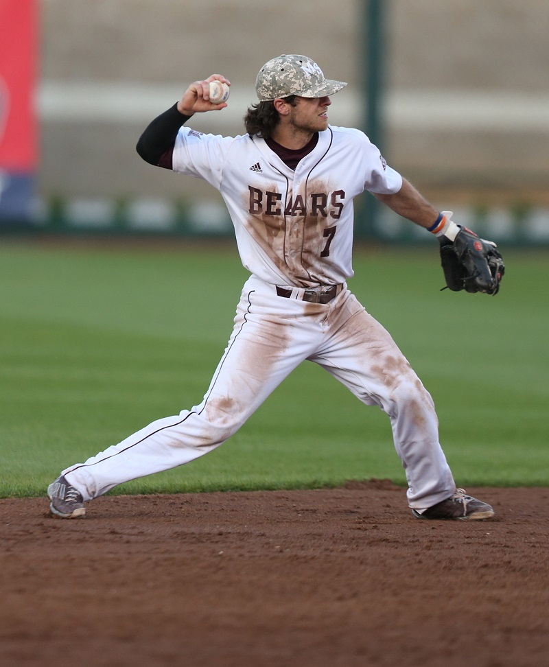 Joey Hawkins singled, walked and scored twice as the Missouri State Bears beat the Canisius Golden Griffs 14-1 in the opener of the NCAA Springfield, Mo. regional.