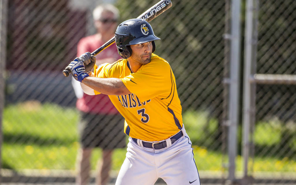 An ankle injury appeared to end Mike Krische (Langley, BC) senior season with the Canisius College Golden Griffs. The outfielder was back in time to pinch hit the final regular season weekend, started in the MAAC tourney and contributed at the NCAA regional in Springfield, Mo.
