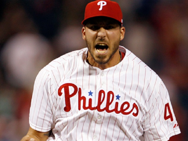 Phillippe Aumont (Gatineau, Que.) has made 45 relief appearances for the Phildelphia Phillies. Now, he's been promoted to fill in for injured Cole Hamels facing the Miami Marlins.