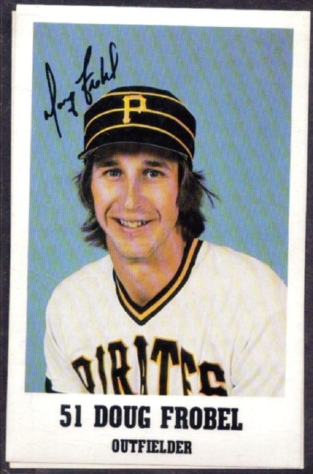 On this day in 1984 Pittsburgh Pirates Doug Frobel (Ottawa, Ont.) almost hit the scoreboard at Wrigley Field turning around a Lee Smith pitch for his second homer of the day.