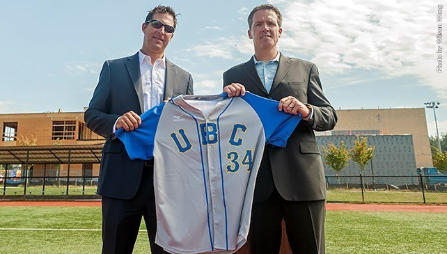Chris Pritchett, left, takes over from Terry McKaig (Vernon, BC) as coach of the University of British Columbia Thunderbirds.