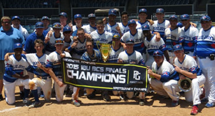 The Ontariio Blue Jays became the first Canadian team to win the 18u Perfect Game BCS national championship with a 4-2 win over  Next Level of   Tallahassee, Fla. in Fort Myers.