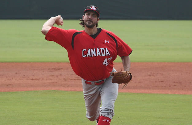 RHP Phillippe Aumont (Gatineau, Que.) tossed five scoreless as Canada moved to 3-0 in a 9-1 win over Nicaragua.