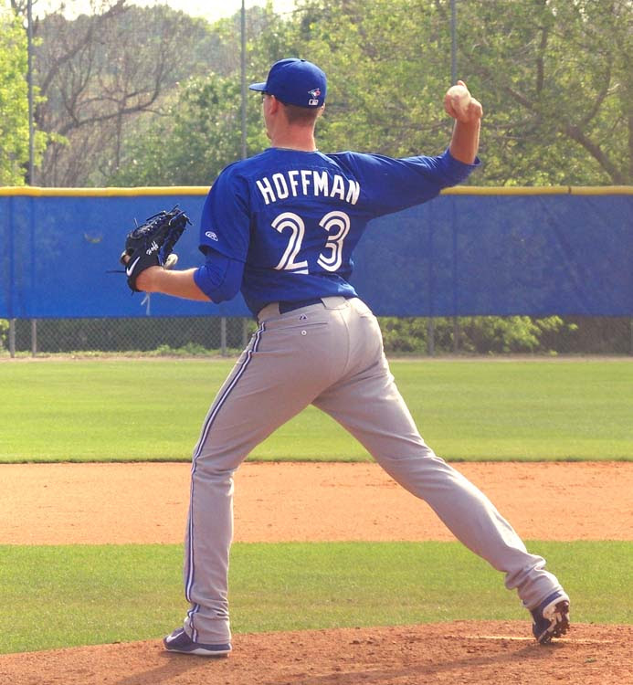 RHP Jeff Hoffman pitched into the seventh allowing only one run for class-A Dunedin. Photo: Jay Blue.