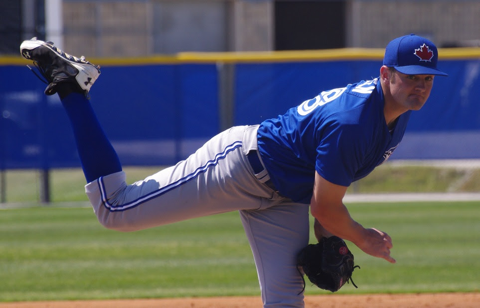 RP Brad Allen worked a perfect three innings, striking out four for class-A Dunedin. Photo: Jay Blue.