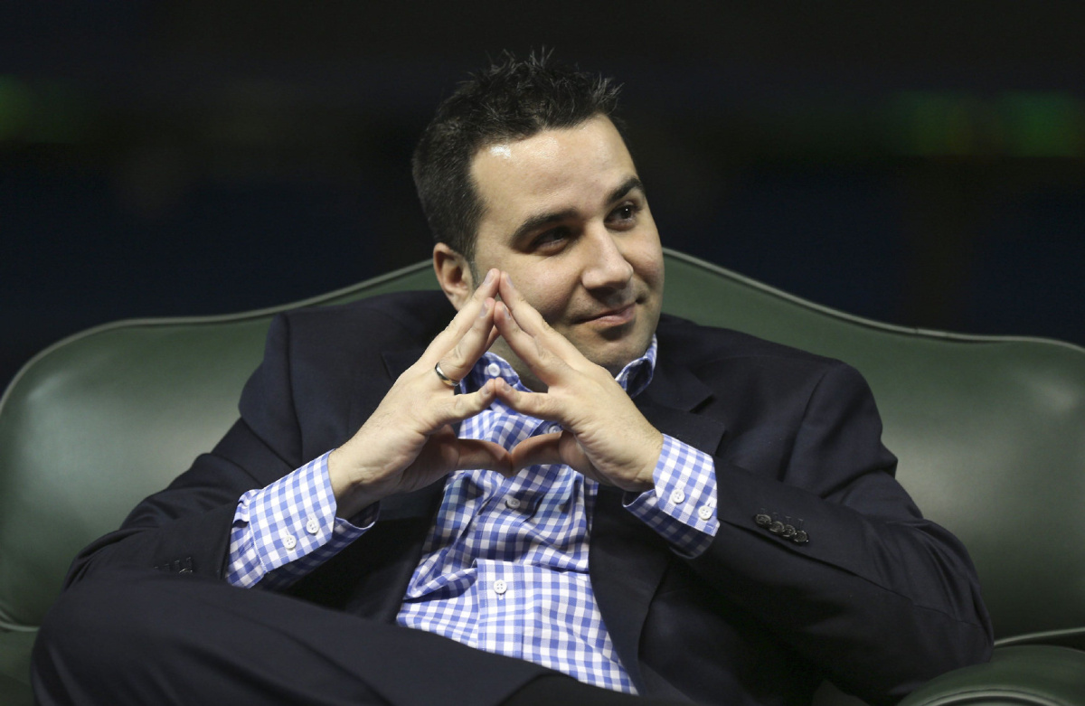 THE TORONTO FAN BASE IS COUNTING ON GM ALEX ANTHOPOULOS TO SAVE THE BLUE JAYS SEASON. BUT, AS SECTION 108 EXPLAINS, IT MAY BE TOO LATE TO ACQUIREAN ACE. (PHOTO: RICHARD LAUTENS/TORONTO STAR)