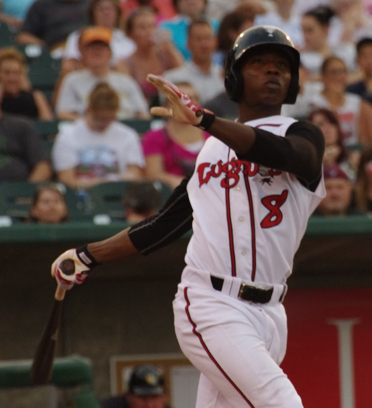 OF D.J. Davis was 3-for-5 with a homer for class-A Lansing. Photo: Jay Blue.