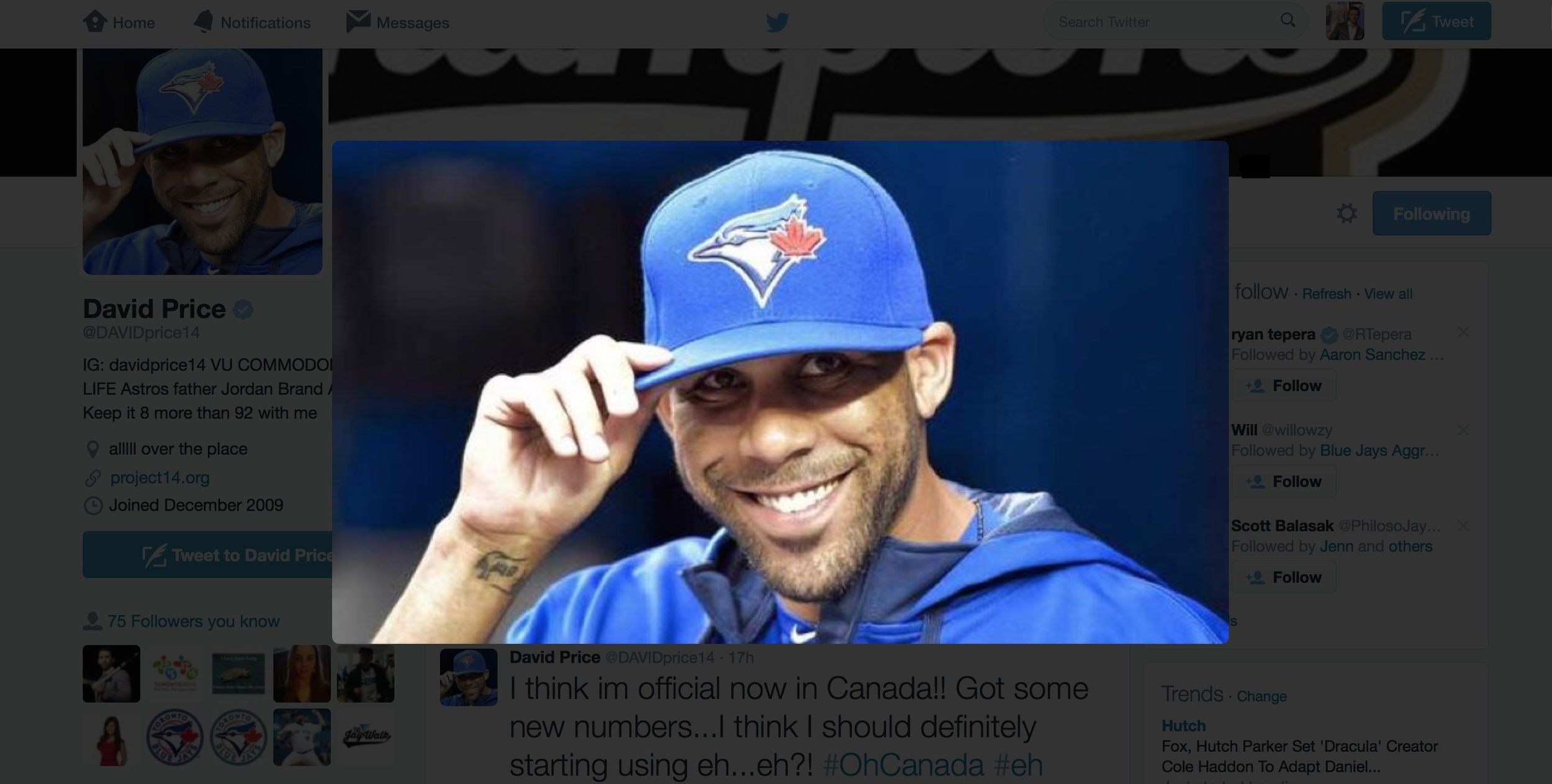 SECTION 108 RECAPS ALL THE EXCITEMENT SURROUNDING DAVID PRICE'S FIRST START... USING YOUR FAN TWEETS
