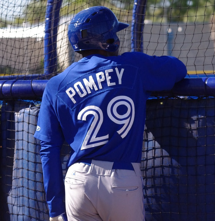 Dalton Pompey (Mississauga, Ont.) had two of the hits for triple-A Buffalo. Photo: Jay Blue.