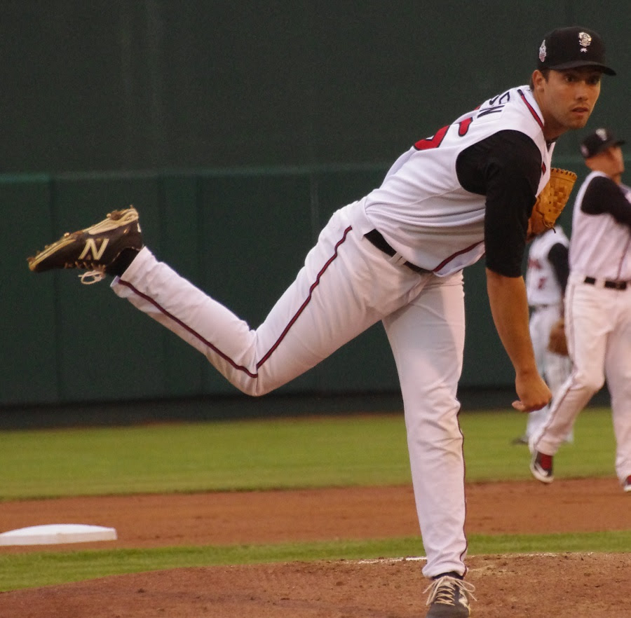 RHP Tom Robson (Ladner, BC) allowed  six hits and one run in five innings,striking out six and not walking a man for class-A Lansing. Photo: Jay Blue.