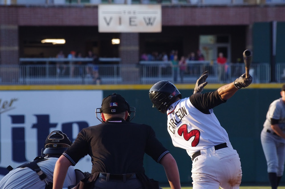 Chris Carlson was 3-for-4 with a double for the class-A Lansing Lugnuts. Photo: Jay Blue.