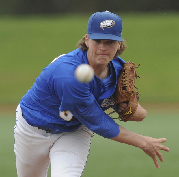 RHP Curtis Taylor (Port Coquitlam, BC) of the Kelowna Falcons along with teammate Alex Webb (Surrey, BC) earned high marks from Perfect Game USA on the West Coast League's best.