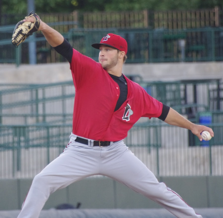 LHP Shane Dawson (Drayton Valley, Alta.) worked six innings for the win in class-A Lansing's playoff opener. Photo: Jay Blue.