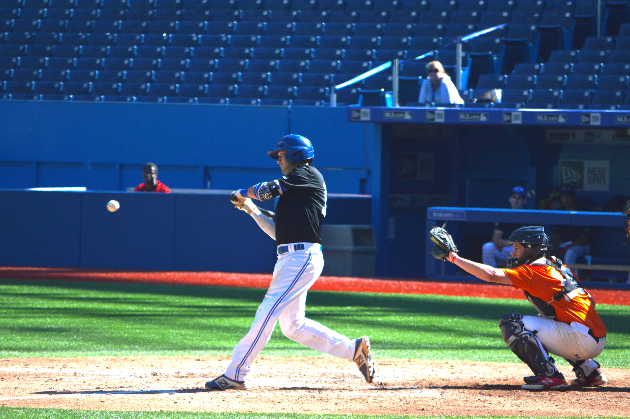 Reese O'Farrell (Burlington, Ont.) of the Ontario Blue Jays played a key role in Ontario Black's win.