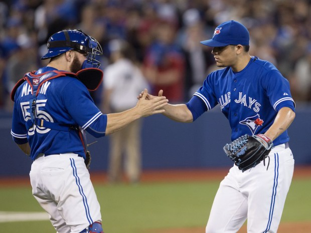 No need to panic just yet - Osuna and the Blue Jays are up to task (Photo: Darren Calabrese/Canadian Press)