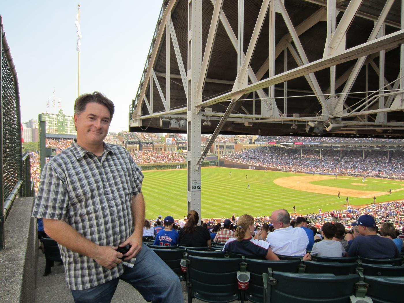 Former Los Angeles Dodgers scout Danny Evans, shown at Chicago's Wrigley Field where he spent so many days as a youngster, and former Jays scouting director Jon Lalonde are covering the Texas Rangers to prepare if the two teams meet. Photo: Andie Evans Studios.