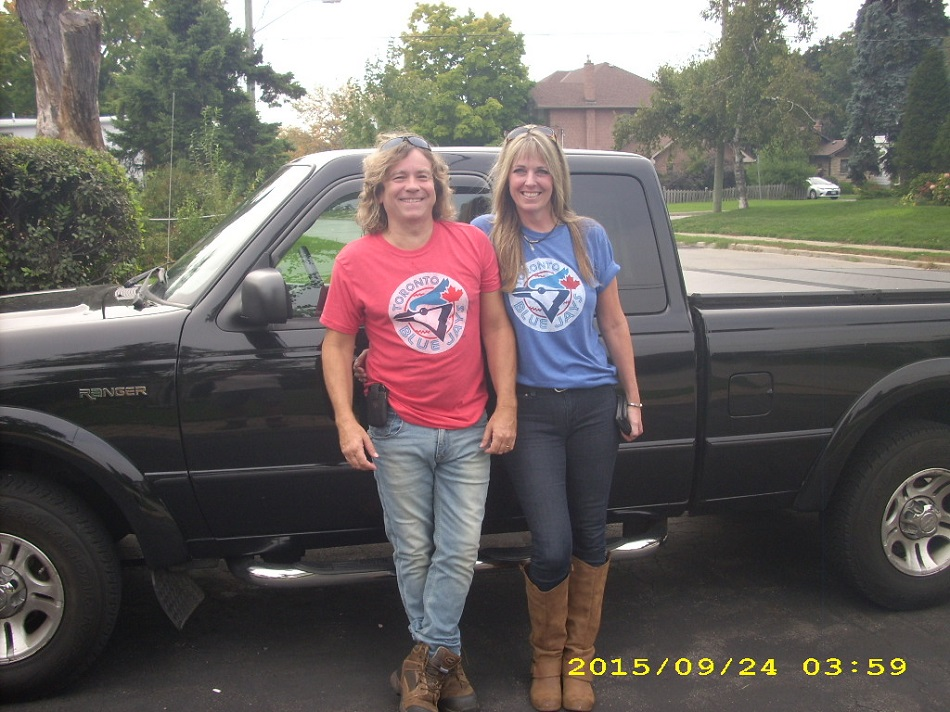 Doug and Jennifer Pegg (Toronto, Ont.) have re-released their song All the Way Blue Jays from 2000.