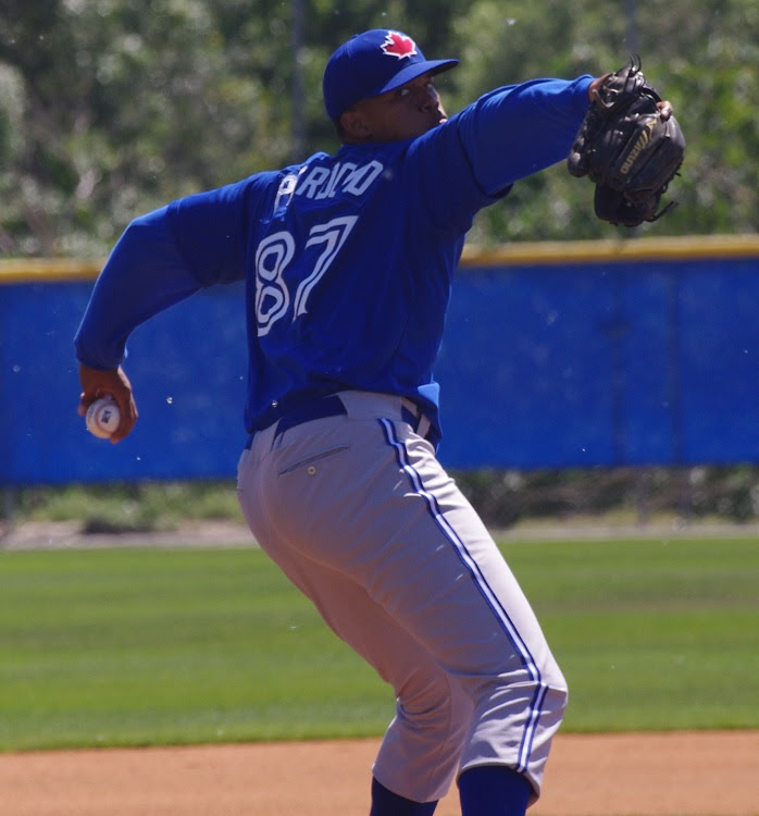 Angel Perdomo was Blue Jays from Away pitcher of the year at Bluefield pitching 21 1/3 innings. with a 2.62 ERA. Photo: Jay Blue.
