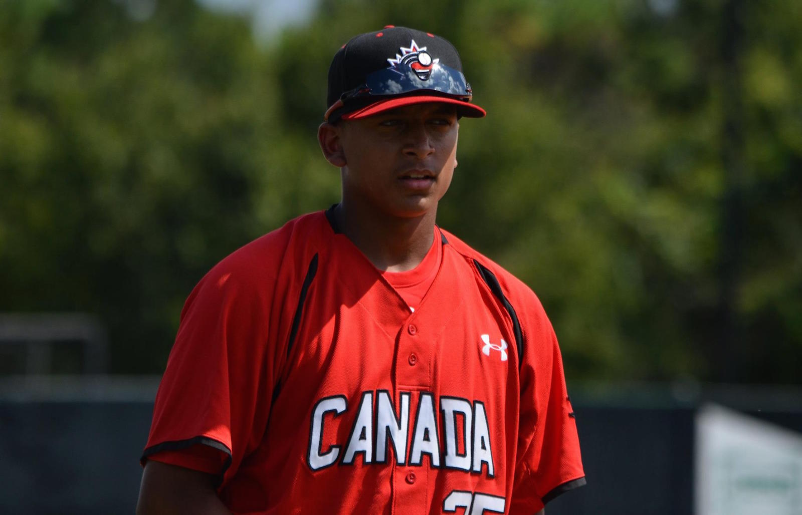 DH Noah Naylor singled and knocked in a run as the Canadian Junior National Team lost 14-2 to the Houston Astros first and second-year pro.
