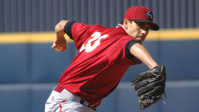 LHP Brandon Mann, shown here at double-A Altoona, has been signed by the Oakland Athletics. Photo: Lianna Holub/MiLB.com.