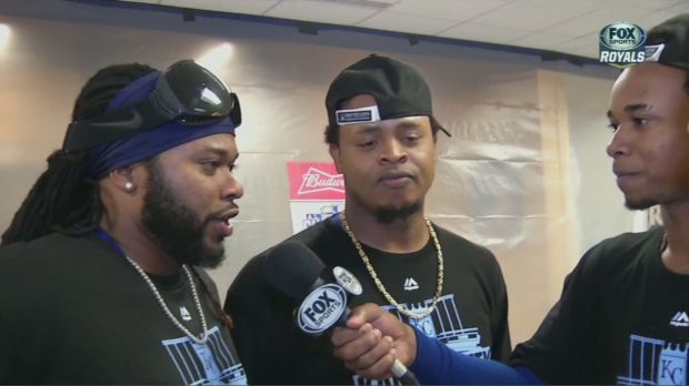 Johnny Cueto (left, who starts Game 3), Edinson Volquez (middle, Game 1) and Yordano Ventura (Game 2) are the Kansas City Royals' starters in the first three ALCS Games.