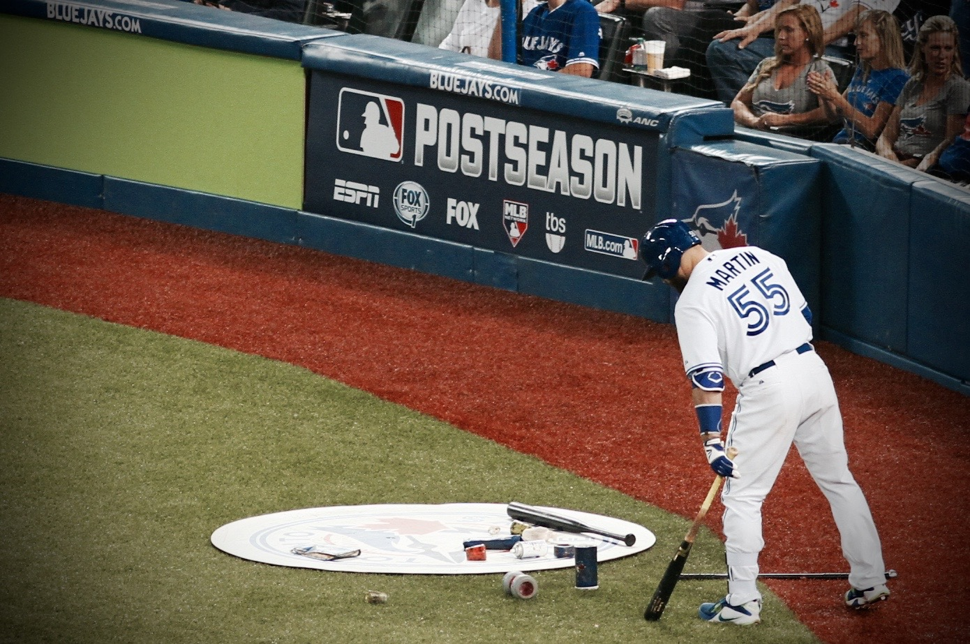 NOT MUCH HAS BEEN WORKING FOR THE BLUE JAYS OFFENCE IN THE POSTSEASON ... THAT WILL NEED TO CHANGE QUICK IN THE ALCS (photo: JEREMY KING)